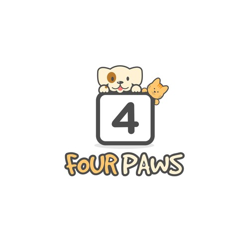 Four Paws needs a fun, creative logo design that instantly connects to all pet lovers