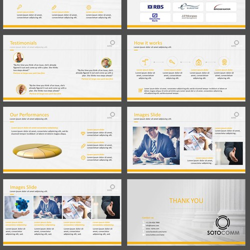 Branded PowerPoint from a website style