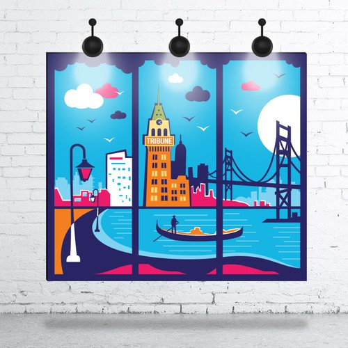 Poster Design for 99designs New Office in Oakland