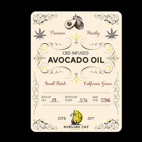Vintage Logo for CBD infused oils