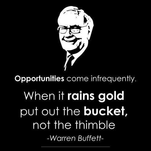 Poster design for Warren Buffett's quote