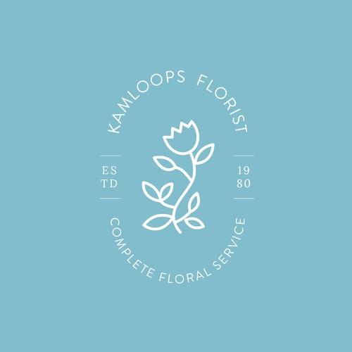 Minimal flower logo for florist