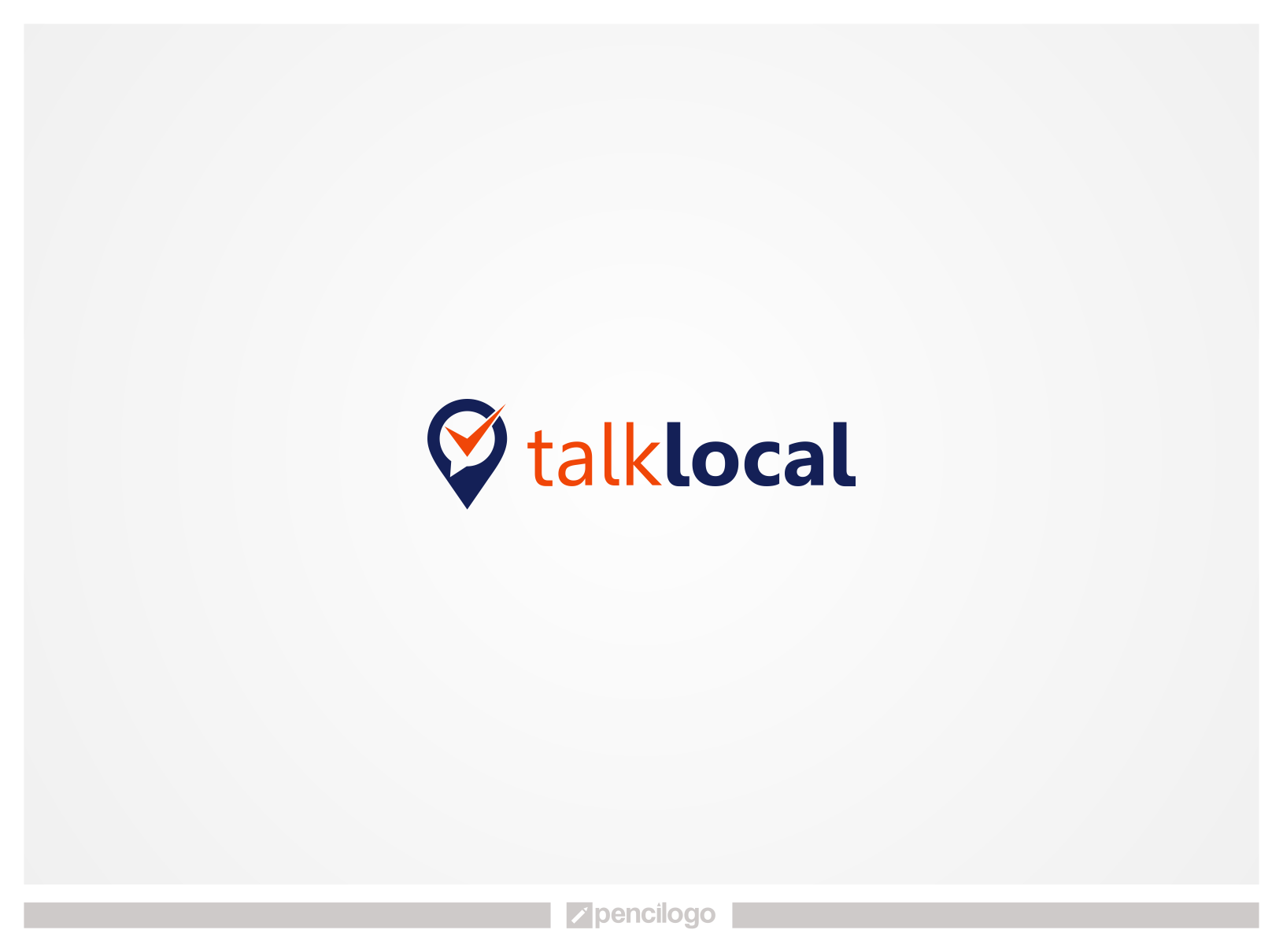 Create a logo that includes the name, Talk Local, along with an image that represents our business