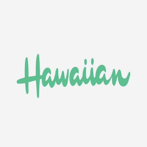 Hawaiian Lettering