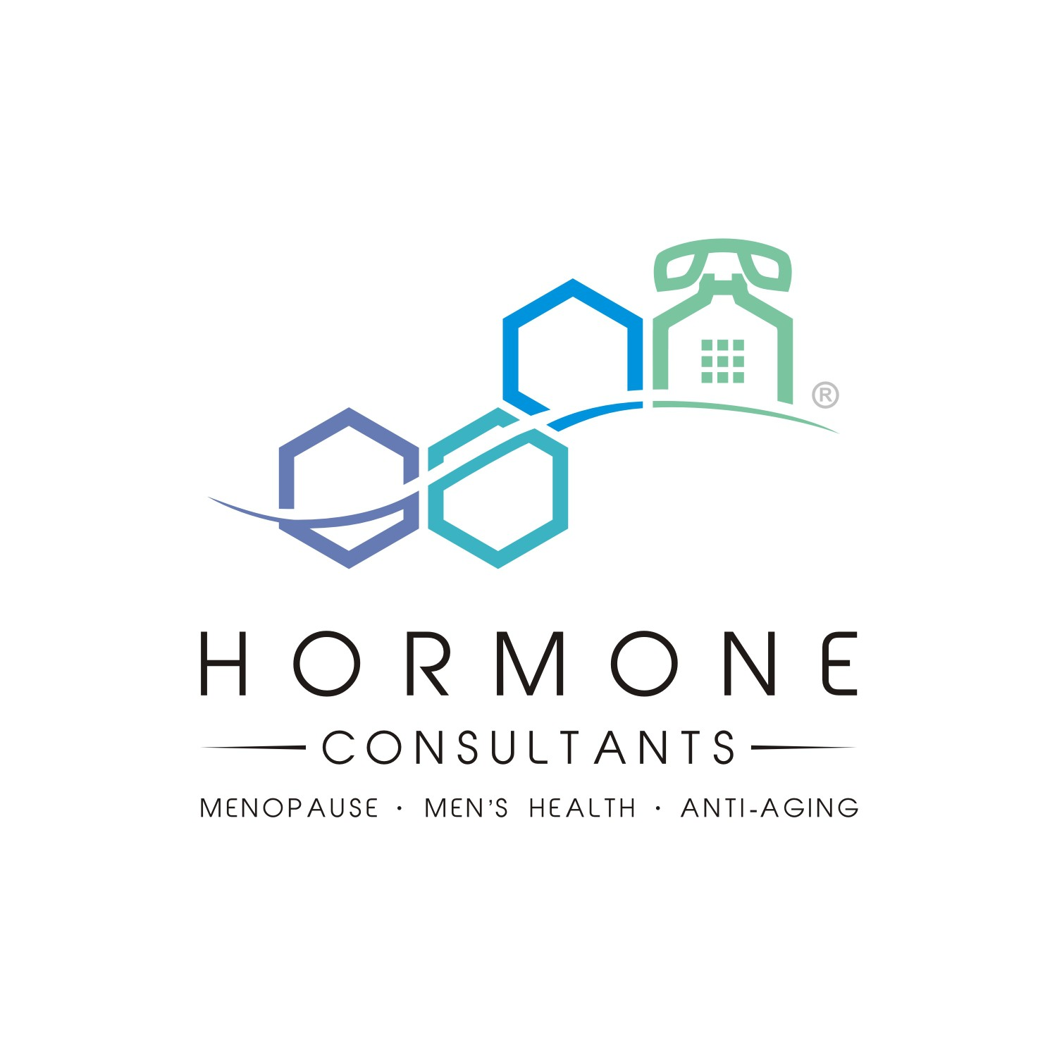 Hormones by Phone logo and logo guide