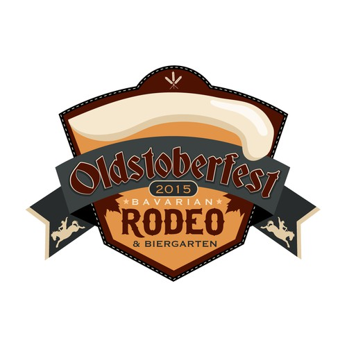 Create a logo for a 'Bavarian Rodeo' event