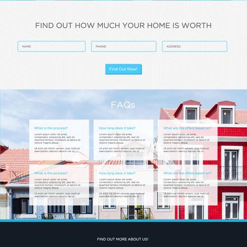 Landing Page Design Entry