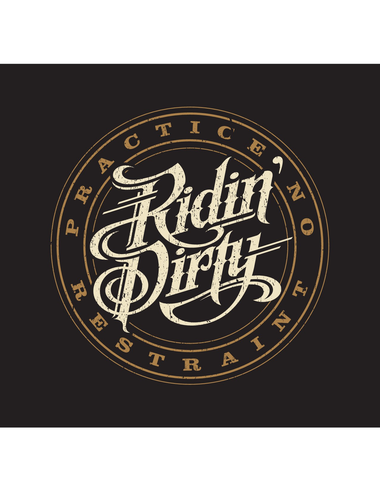 Ridin' Dirty brand T's-- Car/ Motorcycle/ ATV lifestyle + Cowboy/ Rodeo/ Western lifestyle