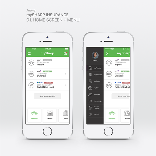 Insurance App Concept