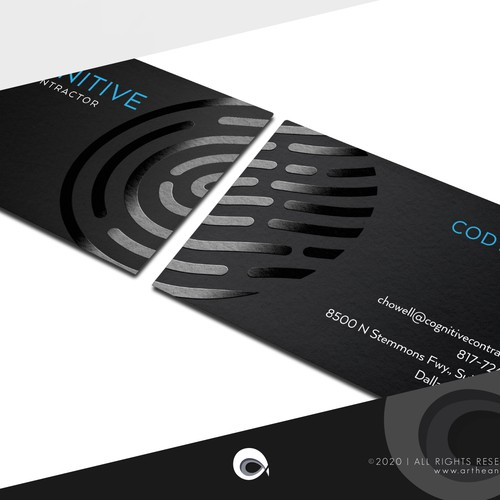 Cool Business Card Design for Tech Company