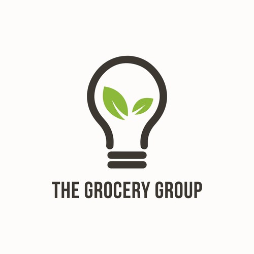 Bold logo for groceries