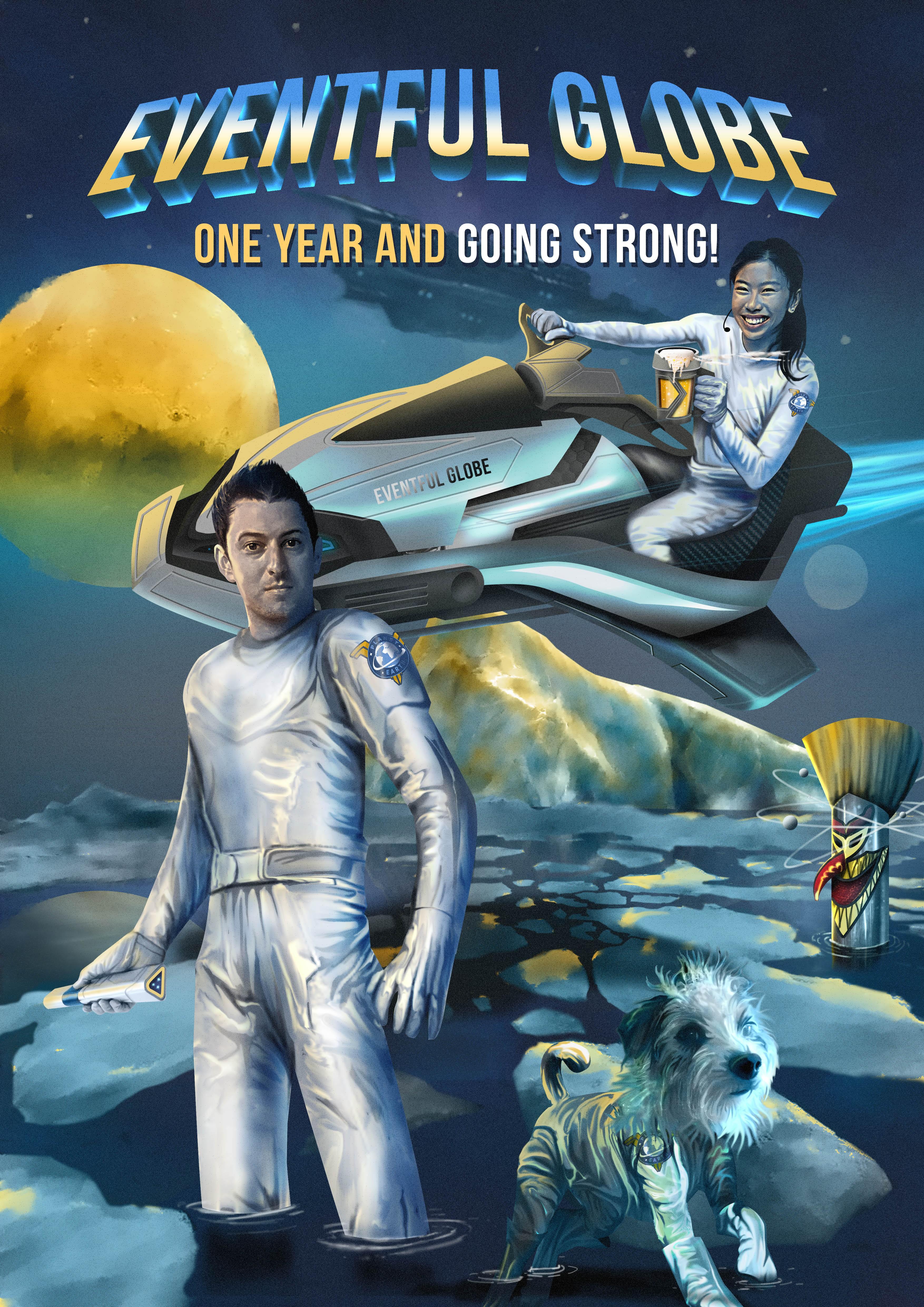 Retro-style Sci-fi Poster