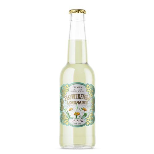 Flowerfield: Label in Art Deco style for a series of lemonades.