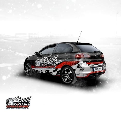 Aggressive winter racing car