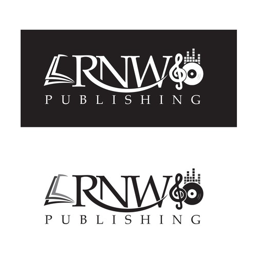 Create a classic logo for a company which publishes books and music.