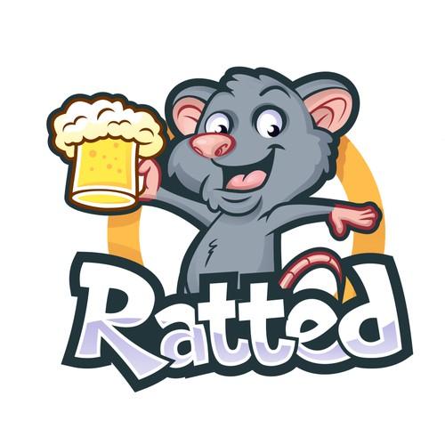 Ratted logo design