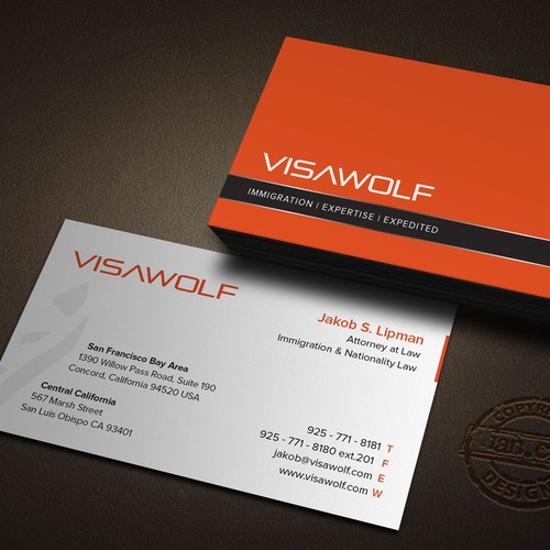 business card design for Visa Wolf