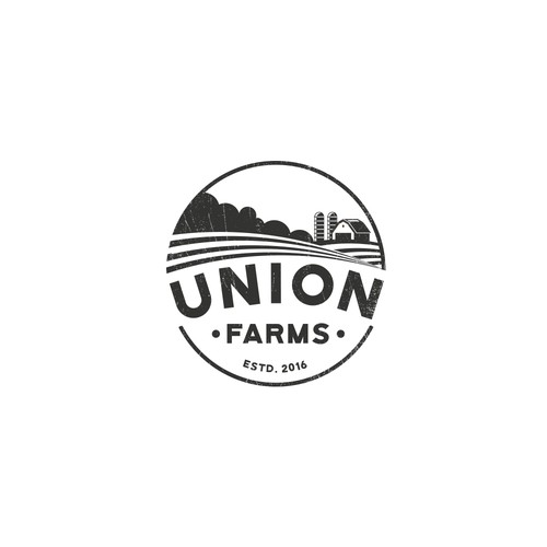 Vintage logo design for farming