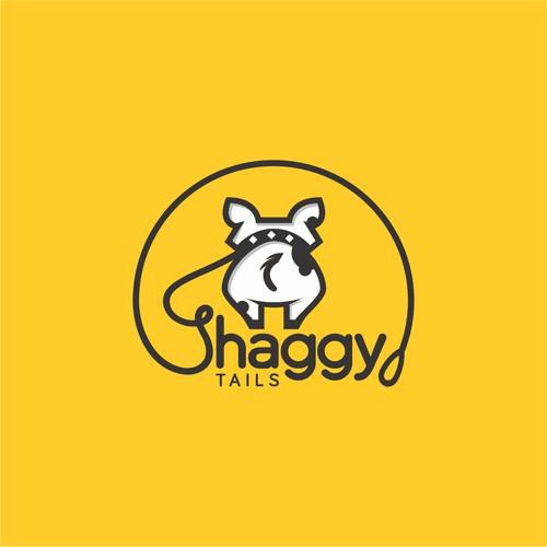 Logo for walking dog