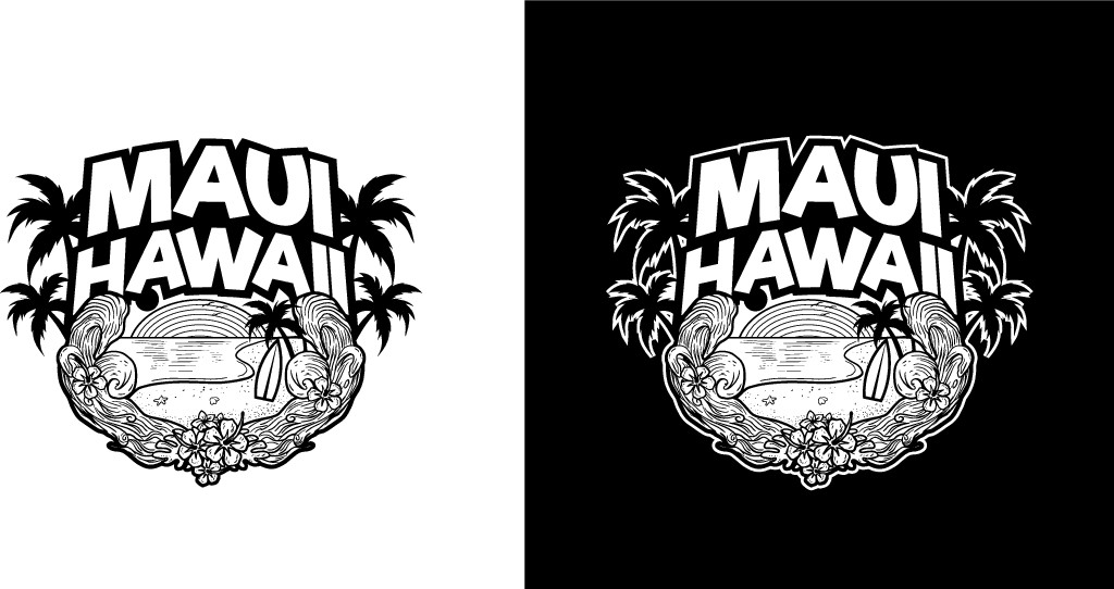 A T-Shirt Design to appeal to travelers to Maui Hawaii