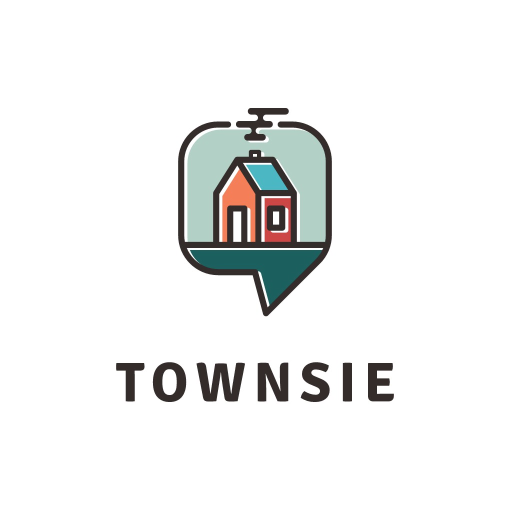 """'Cute' logo for """"small town"""" app"""