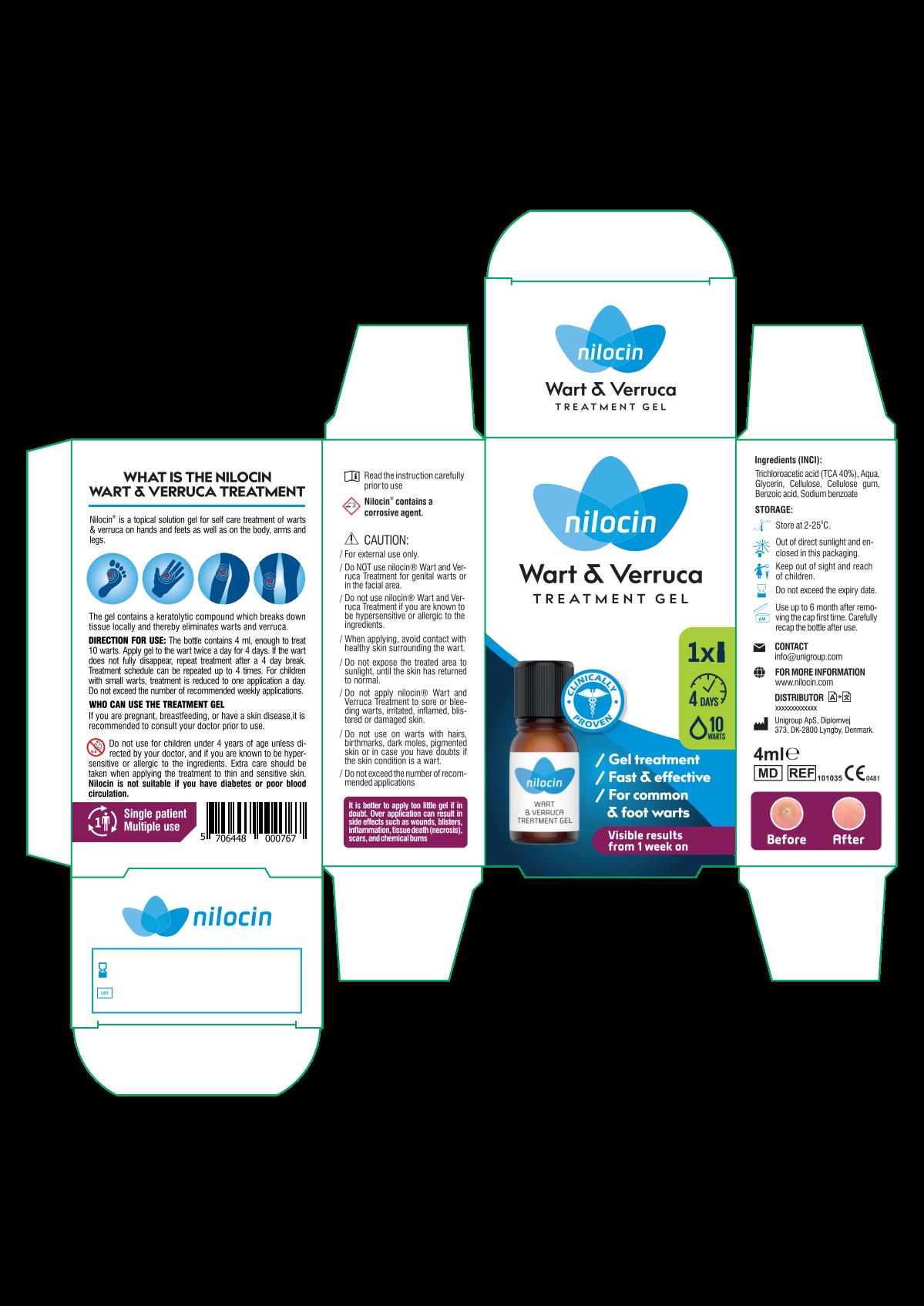 WART GEL retail box in new format UK version