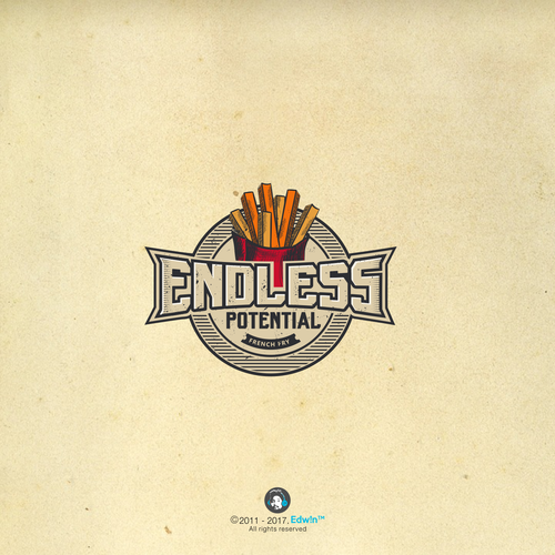 Vintage style Endless potential logo design