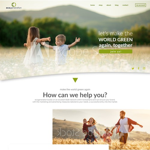 Ecogeneration - presentation website