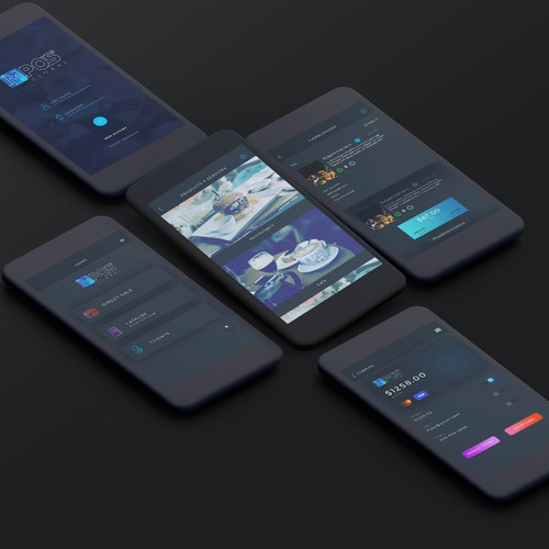 Design concept for mobile point of sale app