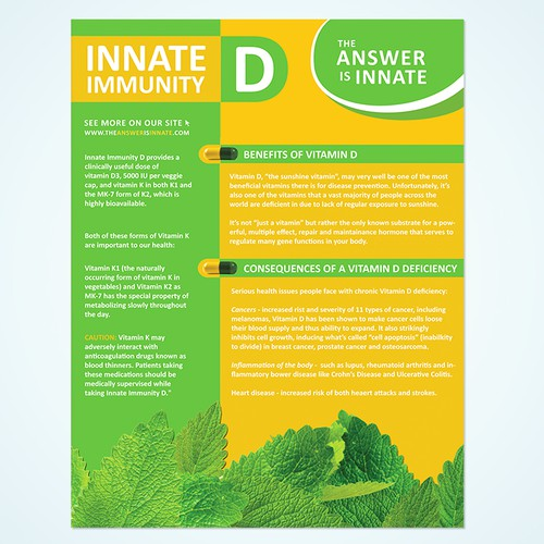 Flyer for a Vitamin D Supplement
