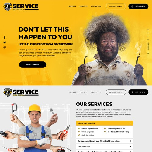 Dream Design for Service Company Website Landing Page