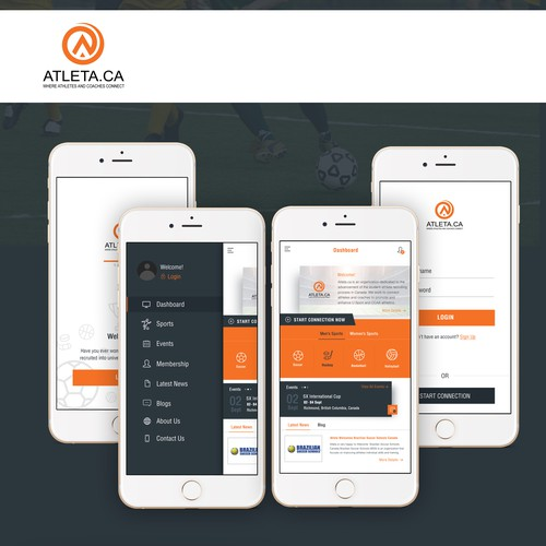 App design for Atleta Recruiting