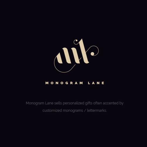 Luxury sophisticated monogram