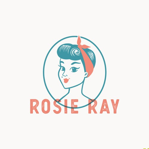 Vintage Rockabilly Girl Logo