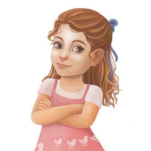 Cartoon girl mascot