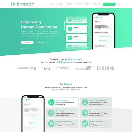 Teleperson website