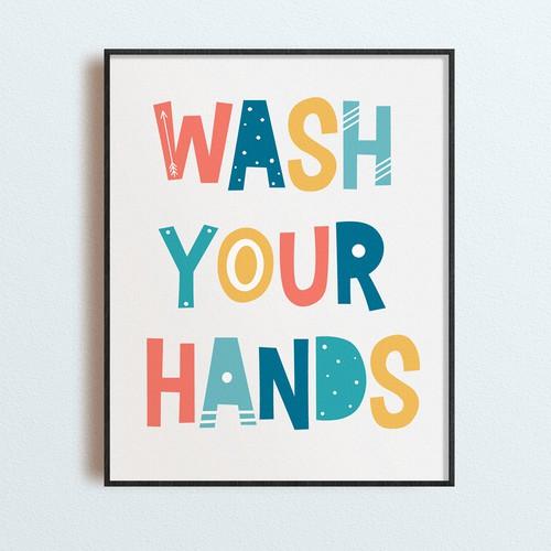 Bathroom poster for kids