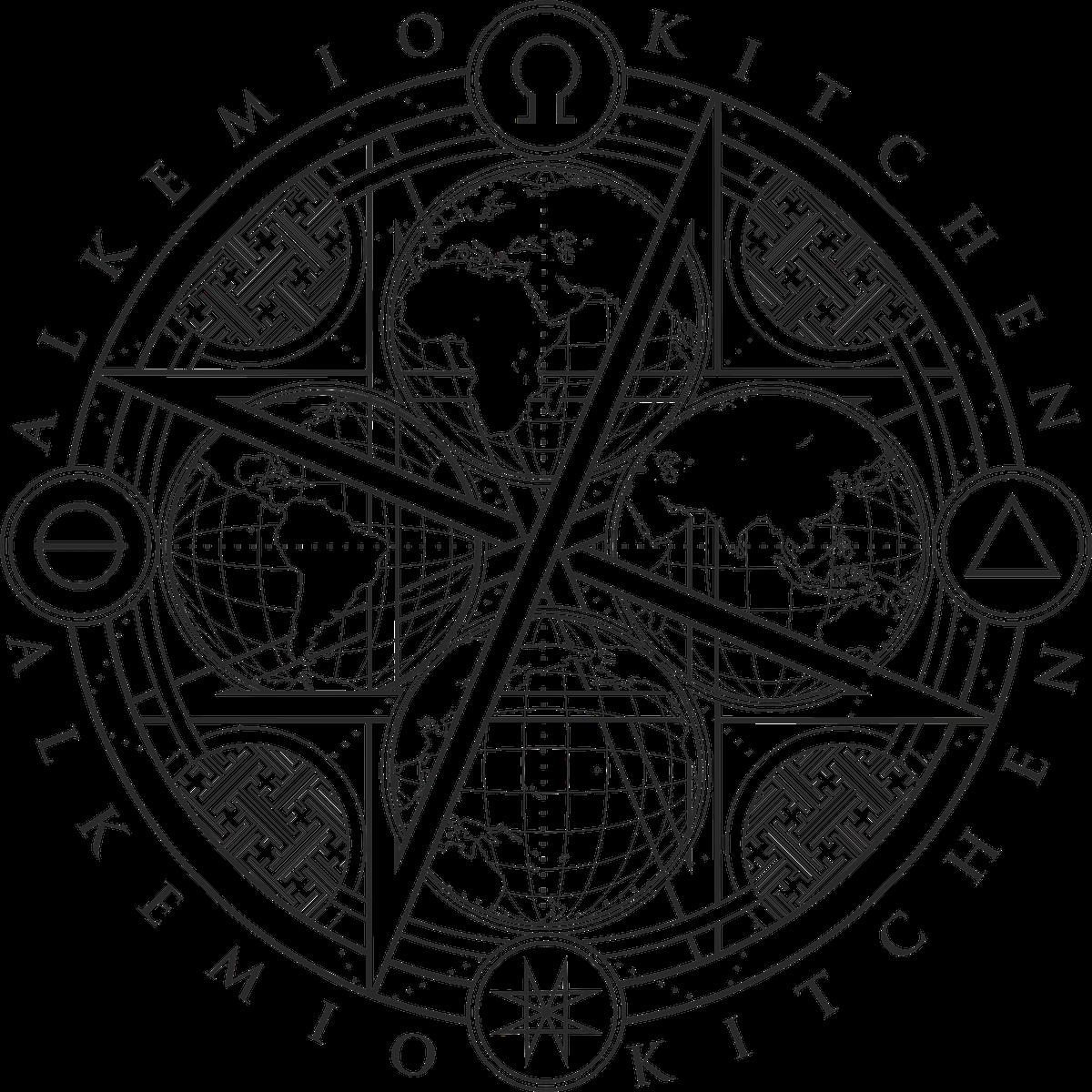 Supper club 'alkemio kitchen' logo
