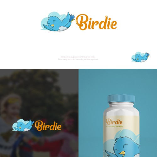 Logo Concept for Birdie Snacks for kids