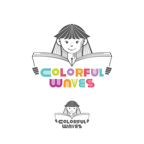 Logo concept for colorful waves