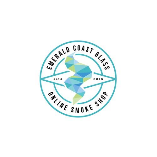 Logo for an online smoke shop