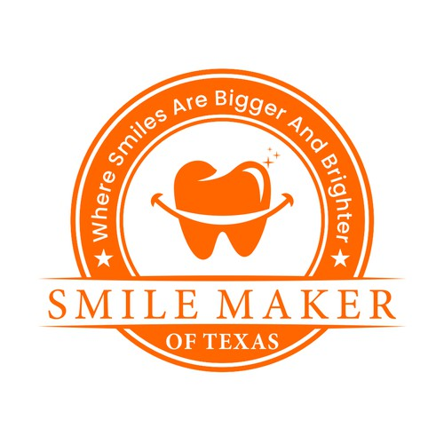 Logo for New Cosmetic Dental Practice..Smile Maker of Texas