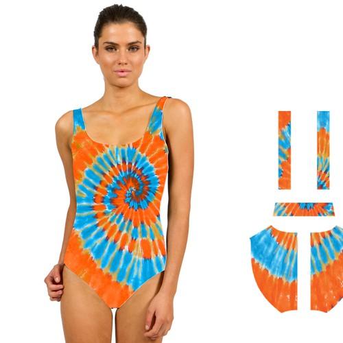 Tie-Dyed Women's Swim Suit