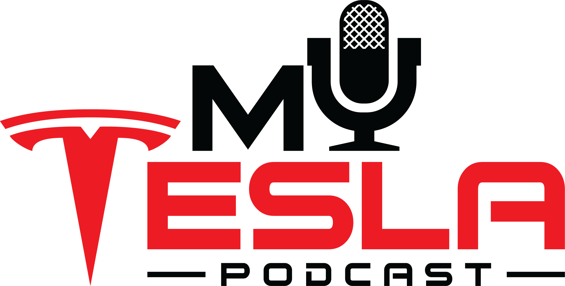 Tesla themed Podcast Logo