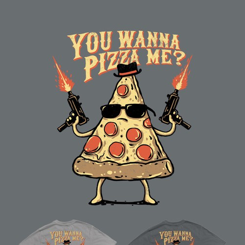 T-shirt Design Concept For Pizzeria