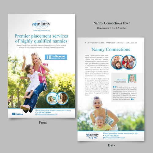 Flyer for Nanny Connections