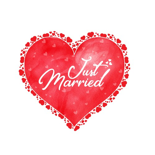 Heart Shape design for Just Married Couple..