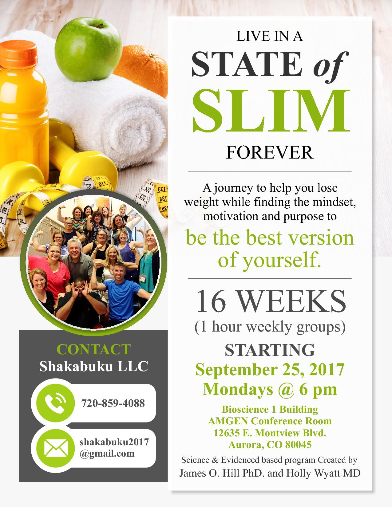 Shakabuku and State of Slim need a motivational flyer