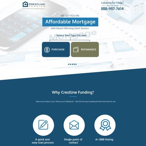 Crestline Funding Landing Page