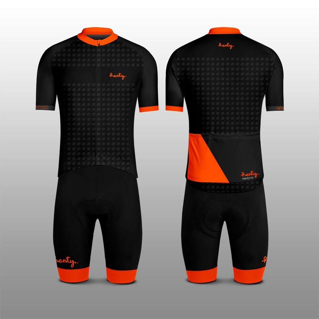 Design simple, clever and classy cycling kit for Henty.cc